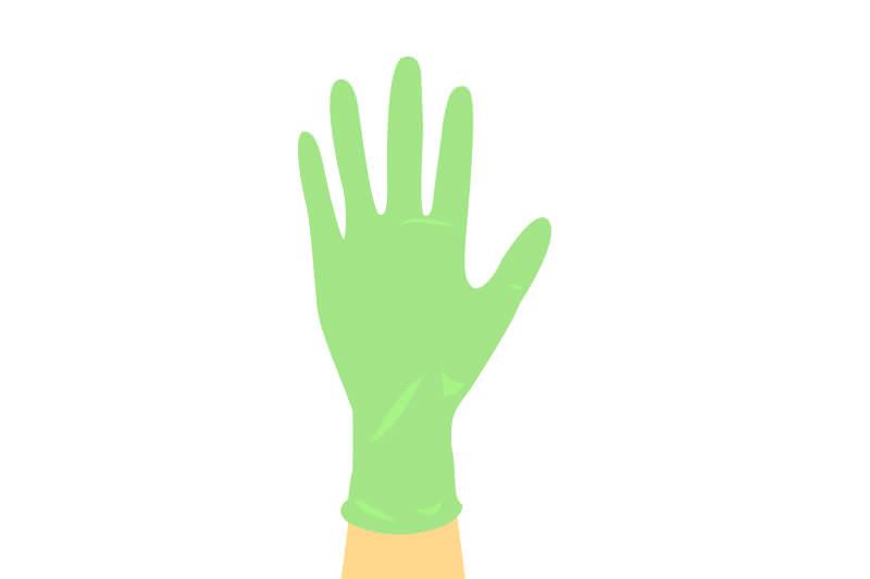 たくさん切る場合はゴム手袋
